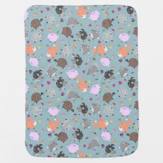 Petits amis animaux ronds couverture pour bébé