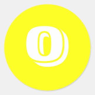 Petits autocollants 0 jaunes ronds par Janz