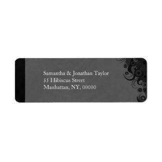 Petits étiquettes de adresse de retour floraux étiquette d'adresse retour