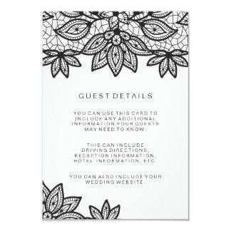 Petits groupes d'invité de mariage de dentelle carton d'invitation 8,89 cm x 12,70 cm