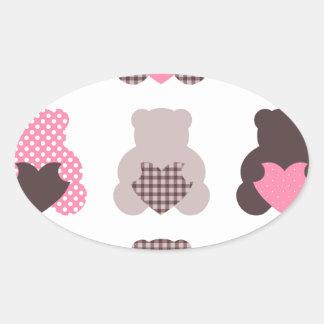 Petits nounours : nounours merveilleux sticker ovale