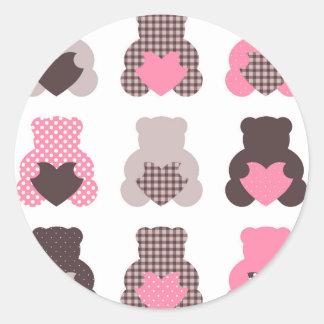 Petits nounours : nounours merveilleux sticker rond