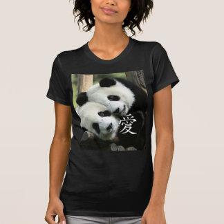 Petits pandas géants affectueux chinois t-shirt