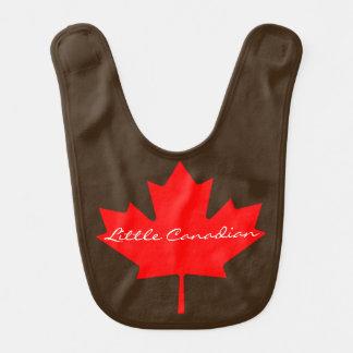 Peu de bavoir canadien de bébé de feuille d'érable