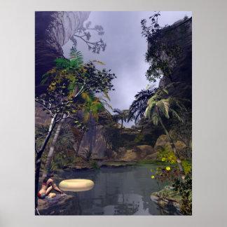 Peu de bébé tropical de chambre à air de lac