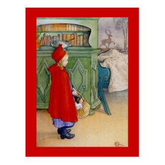 Peu de capuchon rouge 1913 carte postale