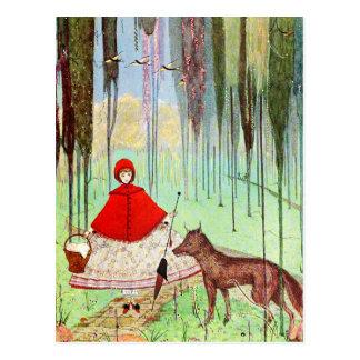Peu de capuchon rouge cartes postales