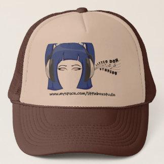 Peu de casquette bleu de cheveux de studios de