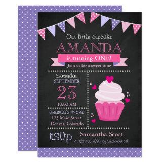 Peu de fête d'anniversaire de rose de tableau de carton d'invitation  12,7 cm x 17,78 cm