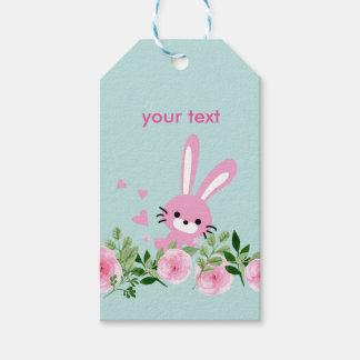 peu de lapin, étiquettes de cadeau de lapin