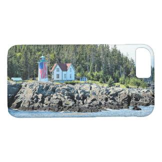 Peu de phare de rivière, coque iphone du Maine