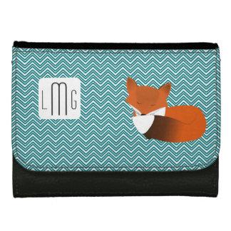 Peu de portefeuille décoré d'un monogramme de Fox