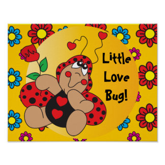 Peu de thème de crèche d'insecte d'amour