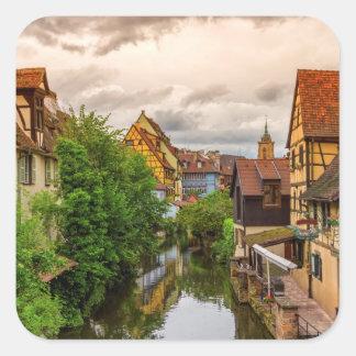 Peu de Venise, petit Venise, à Colmar, la France Sticker Carré