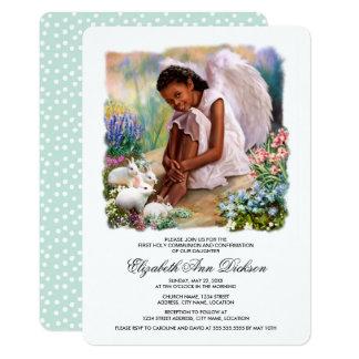 Peu d'invitations de sainte communion d'ange carton d'invitation  12,7 cm x 17,78 cm