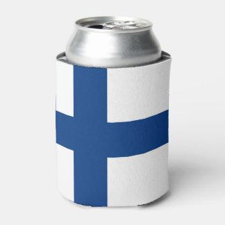Peut le glacière avec le drapeau de la Finlande