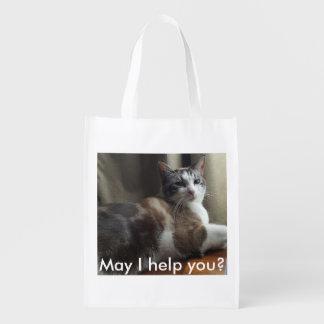 Peux je vous aide épicerie réutilisable sac réutilisable