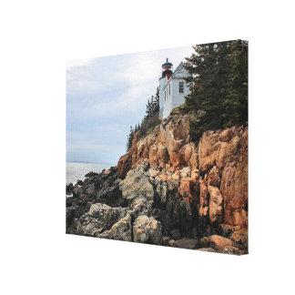 Phare bas de tête de port, copie de toile du Maine