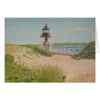 Phare de point de Brandt - Nantucket Carte