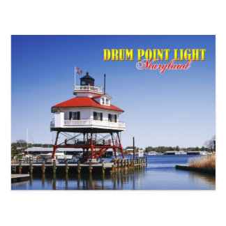 Phare de point de tambour, le Maryland Carte Postale