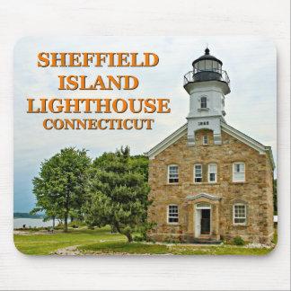 Phare d'île de Sheffield, le Connecticut Tapis De Souris