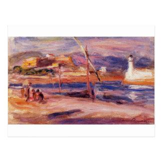 Phare et fort Carre Antibes en Pierre-Août Carte Postale