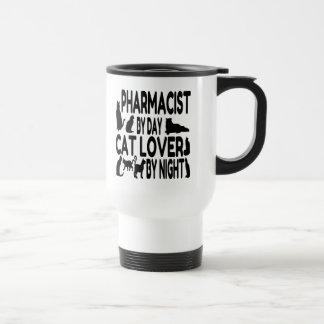 Pharmacien d'amoureux des chats mug de voyage
