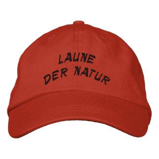phénomène de nature en allemand casquette brodée