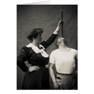 Phénomène vintage de Swallower d'épée de numéro de Carte