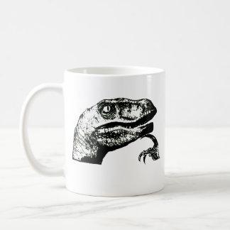 Philosoraptor - bonjour ? mug blanc