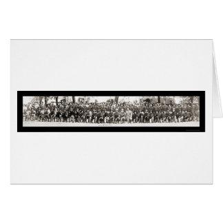 Photo 1917 des fusils WWI de soldats d'infanterie Carte