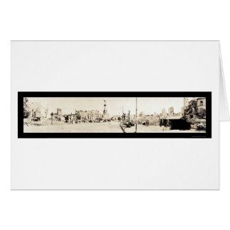 Photo 1918 de dommages de Reims WWI Carte