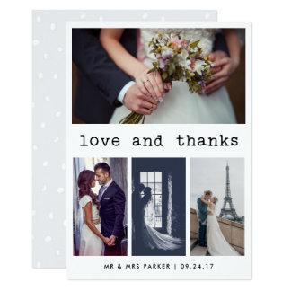 Photo 4 simple du Merci   de mariage des textes de Carton D'invitation 12,7 Cm X 17,78 Cm