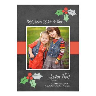 Photo Cartes de Noël | Paix Amour et Joie Carton D'invitation 12,7 Cm X 17,78 Cm