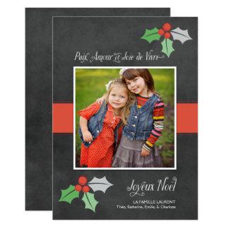 Photo Cartes de Noël | Paix Amour et Joie Kaart