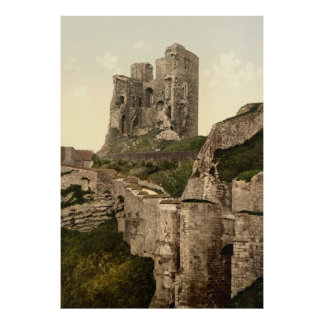 Photo-Copie vintage de Scarborough Castle (1900)