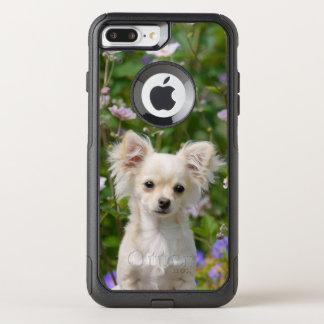Photo crème mignonne d'animal familier de chiot de coque OtterBox commuter iPhone 8 plus/7 plus