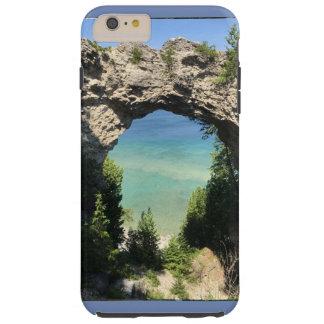 photo de cas de téléphone d'océan et de falaise coque tough iPhone 6 plus