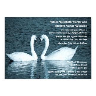 Photo de deux cygnes - faire-part de mariage
