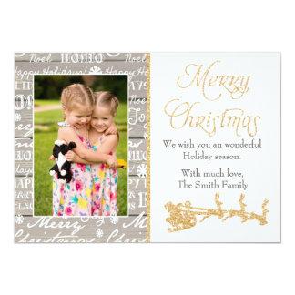 Photo de famille de carte de voeux de Noël