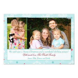 Photo de famille de carte de voeux de Noël Teal