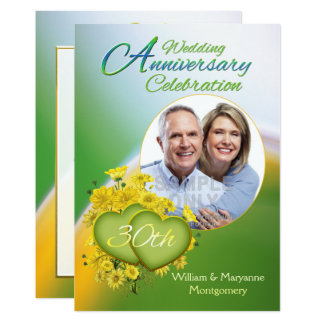 Photo de fête d'anniversaire de mariage de l'amour carton d'invitation  12,7 cm x 17,78 cm