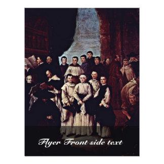 Photo de groupe des moines, des canons et des prospectus 21,6 cm x 24,94 cm