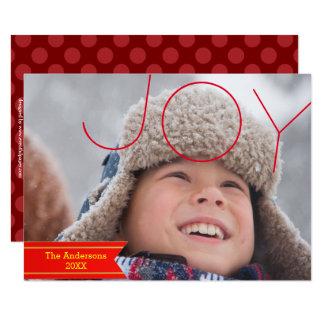 Photo de joie - carte de Noël 3x5