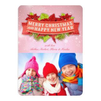 Photo de Joyeux Noël et de bonne année de Carton D'invitation 12,7 Cm X 17,78 Cm
