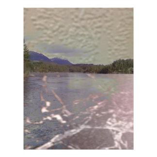 Photo de lac avec la texture prospectus