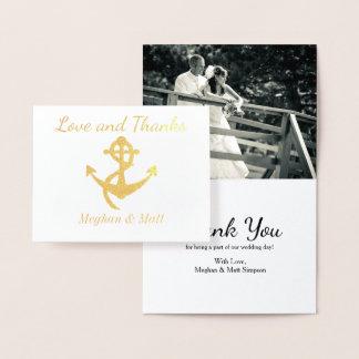 Photo de mariage de carte d'aluminium d'ancre