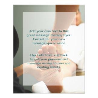 Photo de massage de pied prospectus personnalisés