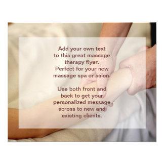 Photo de massage suédois - bras et main prospectus 11,4 cm x 14,2 cm