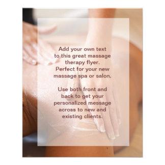 Photo de massage suédois prospectus personnalisés